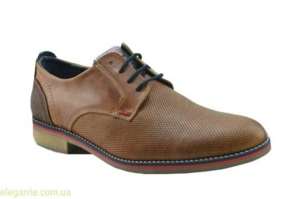 Мужские праздничные туфли DJ SANTA коричневые
