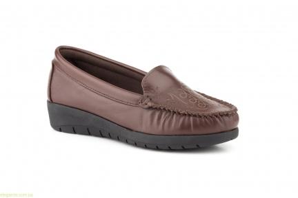 Женские туфли на танкетке ANTONELLA коричневые