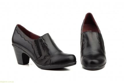 Женские туфли на каблуке GAVIS чёрные