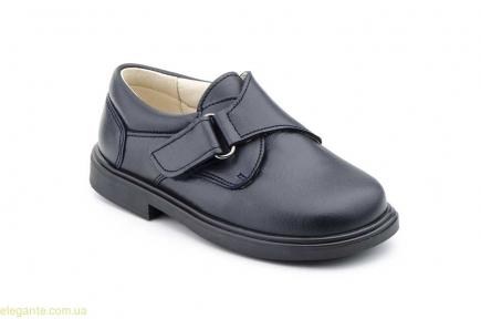 Детские школьные туфли на липучке SERNA чёрные