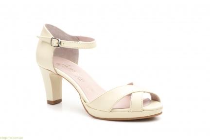 Женские босоножки на каблуке ANNORA бежевые
