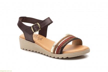 Женские сандалии Alto Estilo  коричневые