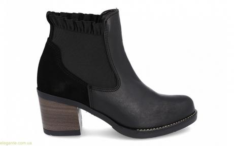 Женские ботинки Innovation с еластическими вставками чёрные