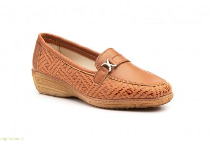 Женские туфли лоферы  Antonella коричневые