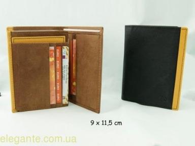 Бумажник мужской кожанный  POLO SPORT чёрный