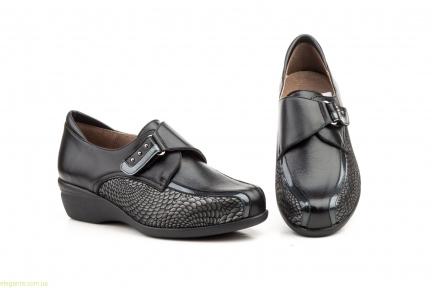 Женские туфли на танкетке JAM1 чёрные