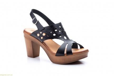 Женские босоножки на каблуке JAM1 чёрные