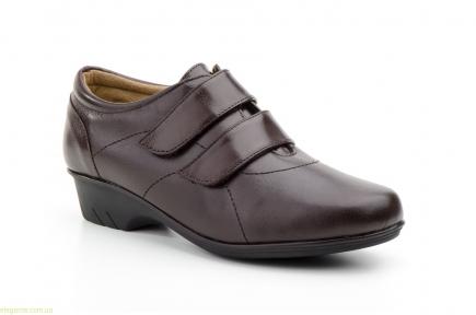 Жіночі туфлі на липучці JAM коричневі