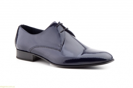 Чоловічі туфлі Paco Valentino сині лакові