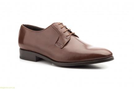 Чоловічі шкіряні туфлі Carlo Garelli коричневі