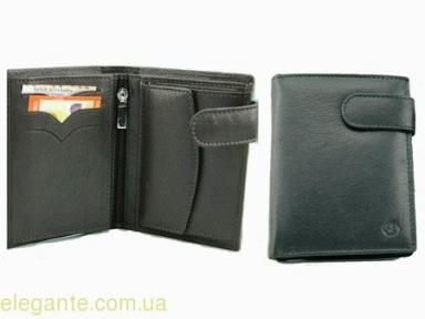 Бумажник мужской вертикальный черный