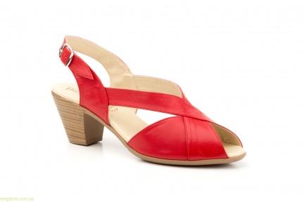 Жіночі босоніжки на каблуку JAM Cutillas червоні