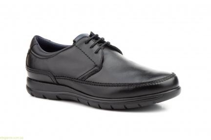 Чоловічі туфлі на шнурівках  KEELAN чорні