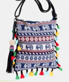 Женская сумочка на плечо ETNICA молодежная синяя