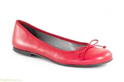 Женские балетки  LAMBUS xxl красные