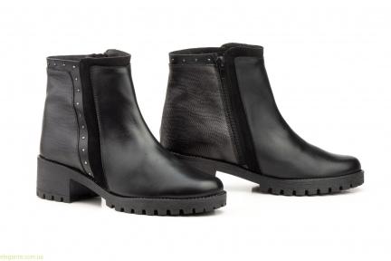 Женские ботинки с заклепками JAM чёрные
