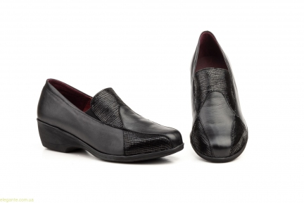 Женские туфли на танкетке ANNORA2 чёрные