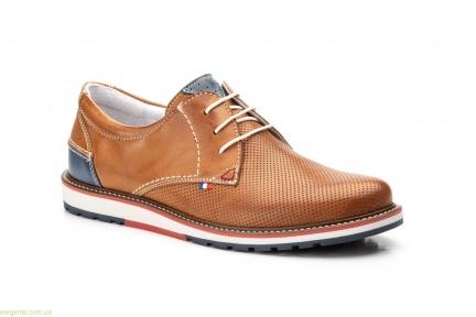 Чоловічі туфлі Pepe Agullo Picados коричневі